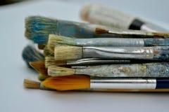 les balais contrôlent des illustrations de construction plus de mon portefeuille de peinture s'il vous plaît Photo libre de droits