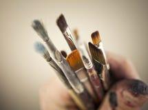 les balais contrôlent des illustrations de construction plus de mon portefeuille de peinture s'il vous plaît Image stock