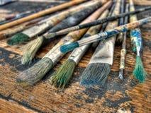 Les balais du peintre Image libre de droits