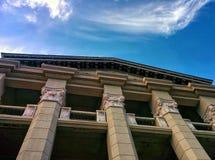 Les balconys sur des colonnes Photo stock