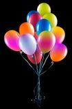 Les ballons de vol ont isolé Photographie stock libre de droits
