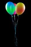 Les ballons de vol ont isolé Image stock