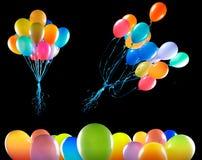Les ballons de vol ont isolé Images stock
