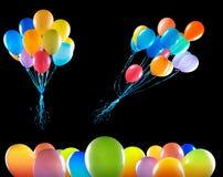 Les ballons de vol ont isolé Photo libre de droits