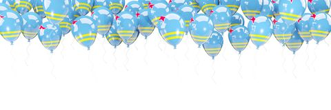 Les ballons encadrent avec le drapeau d'Aruba Photographie stock