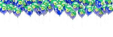Les ballons encadrent avec le drapeau de l'Île Christmas Photos stock