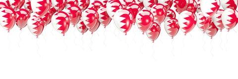 Les ballons encadrent avec le drapeau du Bahrain Illustration de Vecteur