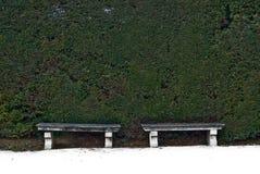 Les bancs deux Image stock