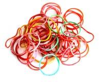 Les bandes élastiques colorées photo libre de droits