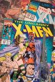 Les bandes dessinées de X-Men éditées par des bandes dessinées de merveille illustration de vecteur