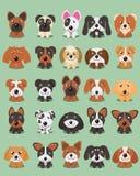 Les bandes dessinées mignonnes de chiot de vecteur de conception de bande dessinée de chien conçoivent illustration stock