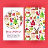 Les bannières de Joyeux Noël de vecteur ont placé le calibre Images stock