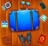 Les bannières plates de Web de vecteur ont placé sur le thème du voyage, vacances, aventure Préparation à votre voyage Équipement illustration libre de droits
