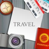 Les bannières plates de Web de vecteur ont placé sur le thème du voyage, vacances, aventure Préparation à votre voyage Équipement illustration de vecteur