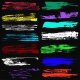 Les bannières pour une belle collection de textures grunges conçoivent Photo libre de droits