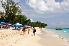 Les Barbade - la plage de compartiment de Paynes Photos stock