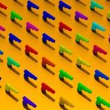 les Bas-poly armes à feu 3d ont rendu l'illustration Photo libre de droits