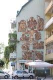 Les bas-reliefs sur le mur du bâtiment Photographie stock