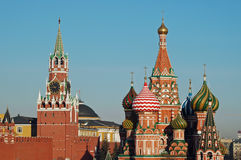 Les basilic cathédrale, Moscou, Russi de Kremlin et de St Photos stock