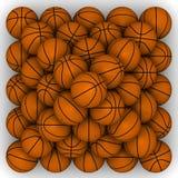 Les basket-balls ont empilé la pyramide Illustration Stock