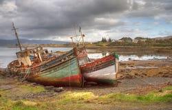 Les bateaux abandonnés chauffent Images libres de droits