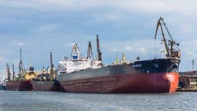 Les bateaux au quai Photo libre de droits