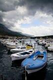 Les bateaux dans le port Image libre de droits