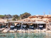 Les bateaux de Formentera photographie stock libre de droits
