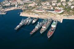 Les bateaux de militaires photo libre de droits