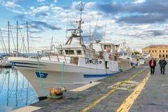 Les bateaux de pêche Photos stock