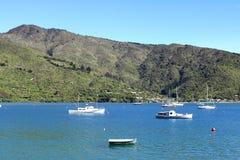 Les bateaux et les yachts, Marlborough retentit, le Nouvelle-Zélande Images libres de droits