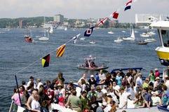 Les bateaux grands hébergent le festival Halifax d'été Images libres de droits