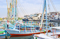 Les bateaux intéressants Photos stock