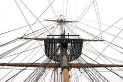Les bateaux mâtent et calage photos libres de droits