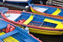 les bateaux ont coloré Image libre de droits