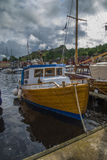 Les bateaux sur l'exposition au port de halden, l'image 8 Images libres de droits