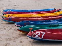 Les bateaux sur la plage Images libres de droits