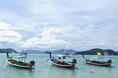 Les bateaux sur la plage Image libre de droits