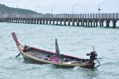 Les bateaux sur la plage Photos libres de droits