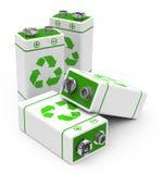 Les batteries d'eco Images libres de droits