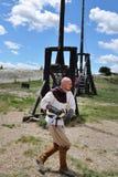 Les Baux, średniowieczny wojownik, Francja Fotografia Royalty Free