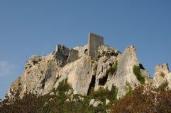 Типичные ландшафты Les-Baux-de-Провансали стоковые фотографии rf