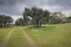 Les baux De Provence. Stockfoto