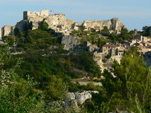 Les Baux-de-Provence, Bouches-du-Rhone (France). View of Les Baux-de-Provence village in France Stock Images