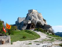 Les Baux-de-Provence, castle Royalty Free Stock Photo