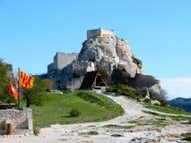 Les Baux-de-Provence, castle royalty free stock photo