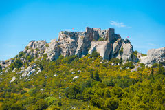 Les Baux de Provence Cliffs Ruins H Stock Photos