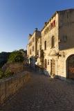 Les Baux-de-Provence en sol de la última hora de la tarde Fotografía de archivo