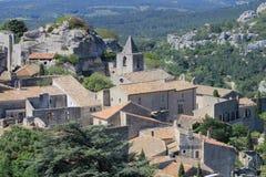 Les Baux-de-Provence and Saint Vincent church, France Stock Image