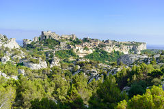 Les Baux de Provence village and castle. France Stock Photography